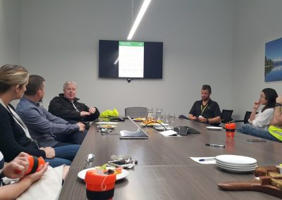 Queenstown Airport GM Safety and Operations Mike Clay walking the QAC team through the revised Health & Safety policy