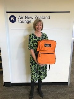 Tracy Wright from Air New Zealand was the winner of the Emergency Kit as part of Airport Safety Week